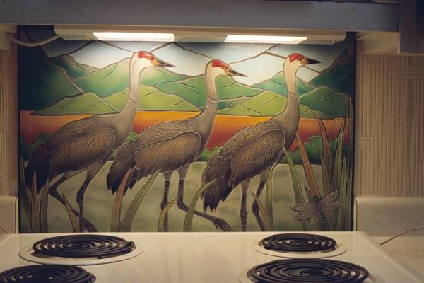 Sandhill cranes installed