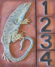 Lizard Address tile piece