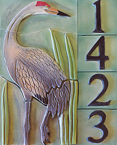 Crane address tile piece